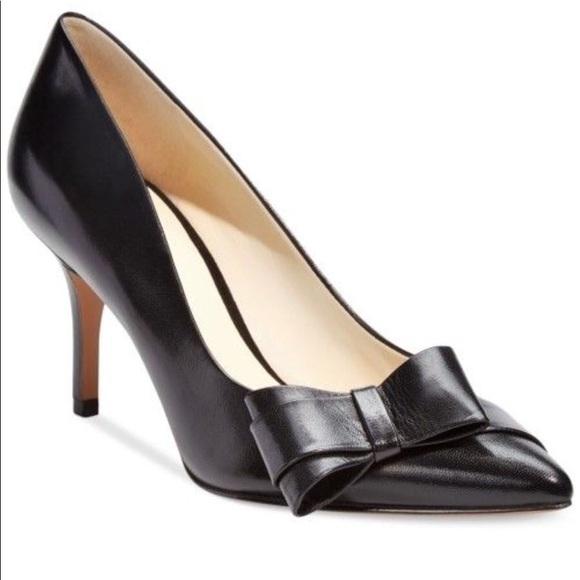 bd70e2a0847 Nine West Kurtail leather black pumps mid heel